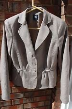 WORTH 4 Brown Gray Peplum Blazer Jacket Gorgeous EEUC