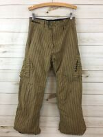 Burton Boys Tan Black Stripe Cargo Insulated Snowboard/Ski Pants. XL. **READ