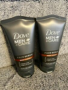 Dove Men+Care Face Scrub, Deep Clean Plus 5 oz, New, 2 Pack