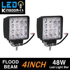 2pcs LED 48W 12V 24V Work Light FLOOD Light Off Road ATV SUV Boat For Jeep Truck