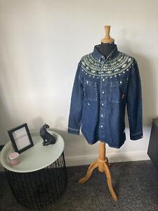 Atreebutes Authentic Western Denim Shirt Overshirt Shacket Jacket Size M