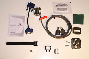 5 x Targus Defcon VPKL Universal Laptop Video Port Security Key Cable Lock Kit