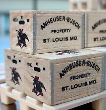 Danbury Mint Budweiser Beer Crates (3) w Pallet for your Model Train Display