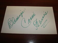 Connie Haines Big Band Songs Signed 3X5 Index Card Authentic Autograph M7