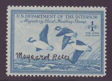 RW15    1948 Federal Duck Stamp  F- VF  MNH  SIGNED  CAT=$275.00   #RW15QM30 DSS
