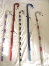 """2 Professional Egyptian Belly Dancing Cane Silver Colored 41"""" Thick"""