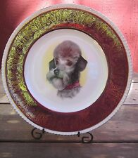 """SCHNAUZER Doggy Display Plate SOLIAN WARE Simpson's LTD Collectible 10.5"""" Round"""