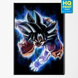 Goku Dragon Ball Z Super Saiyan Anime Poster Print | A5 A4 A3 A2 A1 |