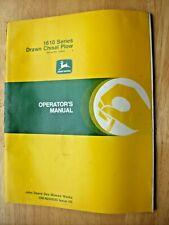 Original John Deere 1610 Series Drawn Chisel Plow Operators Manual Om N200020