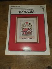 Cross stitch Pattern alphabet welcome Astor Place one sheet of instructions