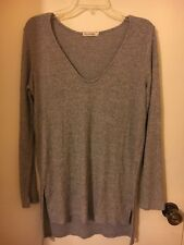 Heart and Hips Grey Super Long Sweater Size Large Stretch