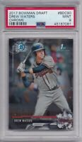 DREW WATERS ROOKIE 2017 Bowman Chrome Draft BDC90 PSA 9 MINT Atlanta Braves