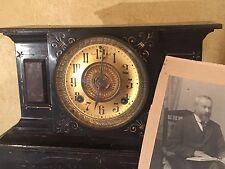 POP'S ANTIQUE ANSONIA CLOCK CO USA CAST IRON MANTLE CLOCK CIRCA 1882