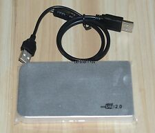 Silver USB2.0 100GB External Hard Drive HDD Portable Laptop Mobile Hard Disk