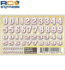 Pinecar Dry Transfer Decals Beveled Numbers PIN4015