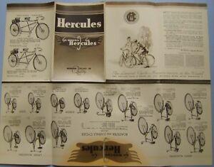 Hercules Bicycle Range 1938 Original Cycling Sales Brochure Pub. No. 5.25.3.38