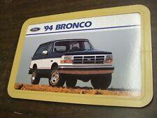 OEM Ford 1994 Bronco Showroom Display Picture 1993 1995 1996 XLT Eddie Bauer nos