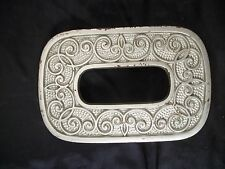 Kitchen trivet oval shape scroll design hot plate table protection metal Celtic
