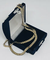 Vintage Necklace Flat Lay Long Gold Tone Chain Elegant Pretty Costume Jewellery