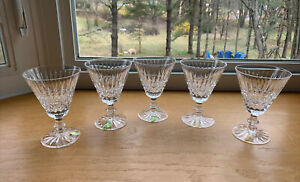 Waterford Irish Crystal TRAMORE Water Goblets (5) W/Original Labels