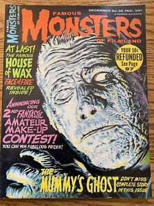 Famous Monsters of Filmland #36 VF- WARREN The Mummy's Ghost