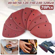 70Pcs Mouse Detail Sandpaper Sander Pads Sanding Sheets Assorted 40 - 320 Grit