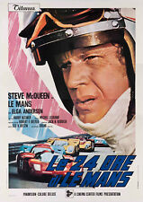 Reproduction Motor Racing Poster, Le Mans 24 Hour Steve McQueen, Wall Art