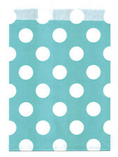 25 Pcs Teal Large Dots 5x7 Print Paper Gift Bags Favor Candy Shop