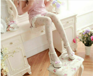 Lolita Girls Cute Floral Pattern Panyhose Stockings Summer Thin Tights 5 Colors