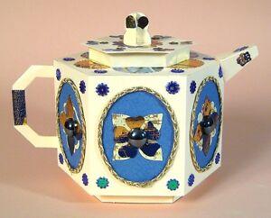 A4 Card Making Templates - 3D Teapot.