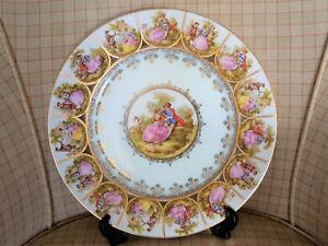 Vintage JKW Josef Kuba, Carlsbad Bavaria, Dinner Plate, Fragonard 'Love Story'