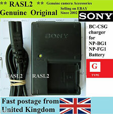 Véritable Sony Chargeur BC-CSG DSC-W150 W130 W125 DSC-H7 B DSC-H9 B DSC-DSC-HX5v