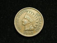 BLOW OUT SALE!  XF 1902  INDIAN HEAD CENT PENNY w/ DIAMONDS & FULL LIBERTY 43B