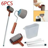 6PCS/Set Paint Runner Pro Roller Brush Wall Painting Edger Handle DIY Tool Kit
