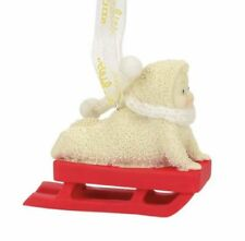 Dept 56 Snowbabies New 2017 PERSONALIZABLE  RED SLED Snowbaby Ornament 4058499
