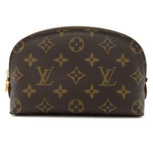 LOUIS VUITTON Pochette cosmetic pouch zipper M47515 Monogram Brown Used LV