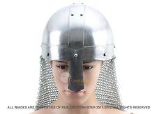 ADULT SIZE Medieval Saxon Nasal Helm Knight Helmet Chain Mail NIB