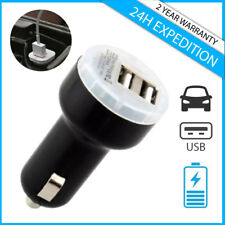 High Speed Dual USB A+ Auto lader Car Charger Oplader Chargeur Voiture Black