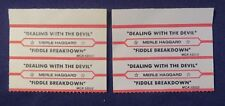 Lot of 4 Jukebox Tags 45 Rpm Title Strips Merle Haggard