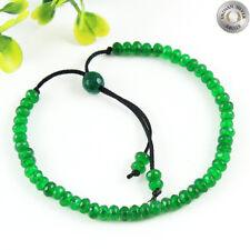 Simulated Green Jade Beads Handmade Thread Bracelet Beaded Jewelry IN-1107