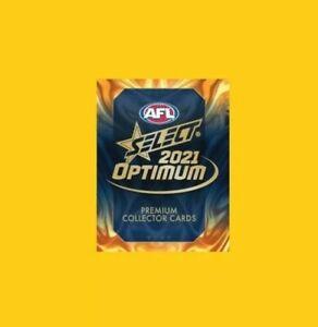 2021 AFL SELECT OPTIMUM COMPLETE COMMON SET 217 NEW