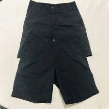 Lot Of 2-Nike Golf Dri-Fit Dark Black Stretch Shorts Nylon Spandex Men 34 Bundle