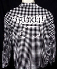 MENS TRUKFIT CHECKED LONG SLEEVE BLACK/WHITE SHIRT SIZE S