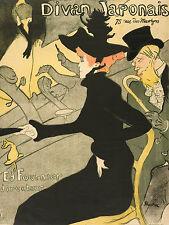 Toulouse-Lautrec Drawing: Le Divan Japonais - Art Print