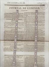Napoléon. Journal de l'Empire des 18 & 19 avril 1808. Imprimerie Le Normant.