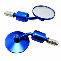 Bar End Mirrors for Yamaha Streetfighter & Cafe Racer Project Bike BLUE PAIR