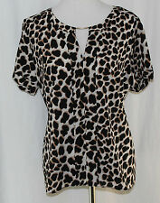 Worthington, PXL, Leopard Print Top, New with Tags