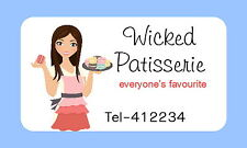 65 PERSONALISED MINI STICKERS FOR BAKING,CUPCAKE ,CAKE MAKING BUSINESS