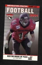 Northeastern Huskies--2001 Football Pocket Schedule--Boston House of Pizza