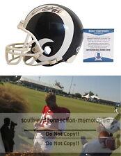 Jared Goff LA Rams Signed Autographed Football Mini Helmet Proof Beckett BAS